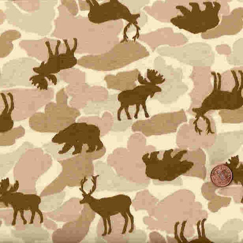 T381 wildlife camo flannel