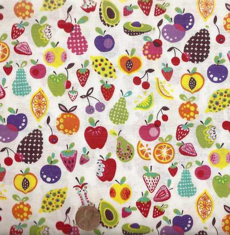 Willow Berries vegetables fruits Alexander Henry kitchen fabric