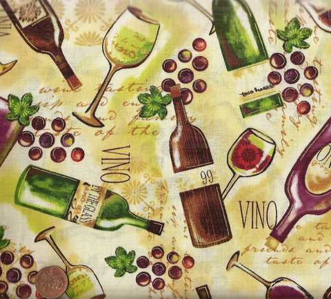 Wine Tasting 21520 bottles grapes Spectrix fabric