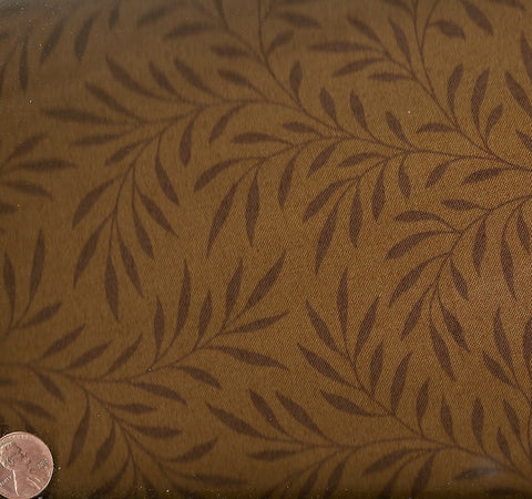 Winterthur 5624N brown leaves Andover fabric