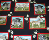 Zebra blocks  wild animals jungle Exclusively Quilters