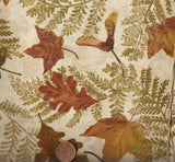 Large Leaves brown autumn Timeless Treasures