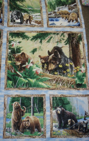 Bear Mountain panel wildlife Wilmington fabric