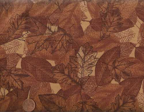 Leaf Toil brown leaves autumn Timeless Treasures fabric