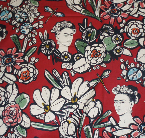 Cactus Flower Frida red Alexander Henry fabric