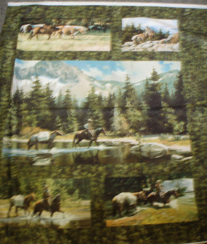 High Country Crossing pack horse panel fabric
