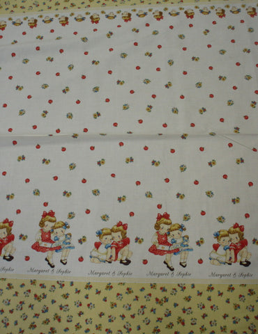 Margaret and Sophie retro girls border fabric Quilt Gate
