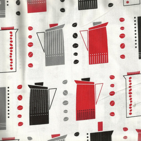 Metro Cafe 10763 licorice Kaufman kitchen fabric