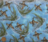 Nostalgic Hunt flying ducks lake Riverwoods fabric