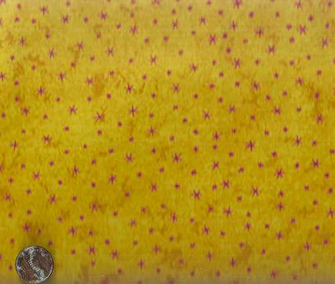 Play Date 1025/2 yellow pink stars fabric