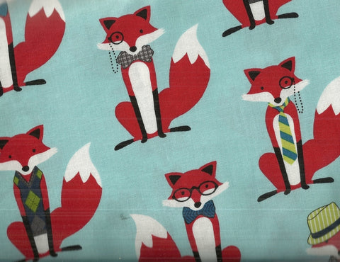fox & houndstooth RJR fabric woodland childrens fabric