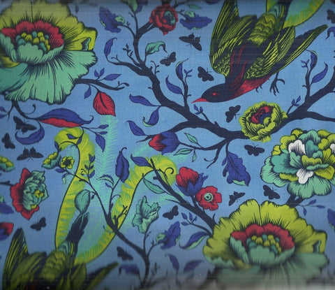 Tula Pink Tail Feathers Lupine birds  Free Spirit fabric