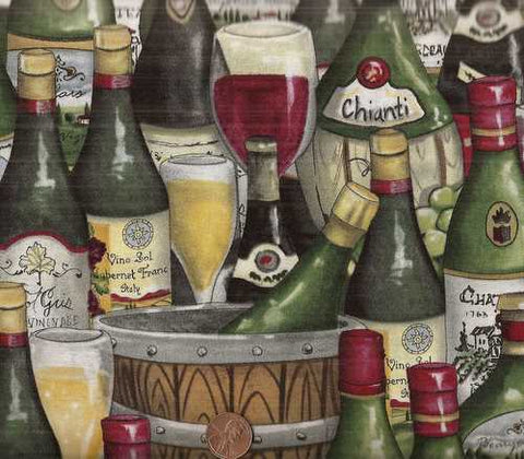 Wine Country 11125 bottles South Sea kitchen fabric