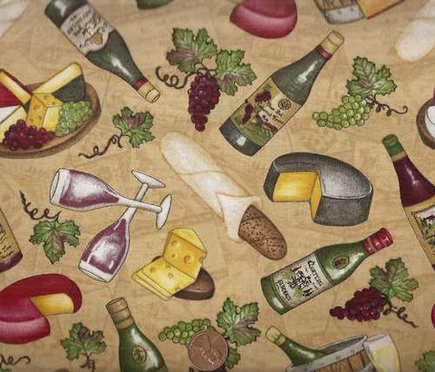 Wine Country 11128 food kitchen South Sea fabric