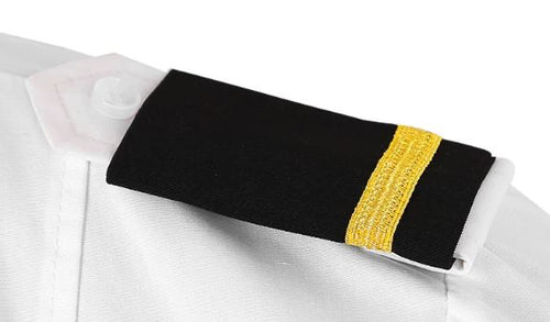 SHOULDER BOARDS GOLD STRIPES ON BLACK