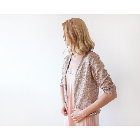 Sequin Pink jacket with long sleeves 2014
