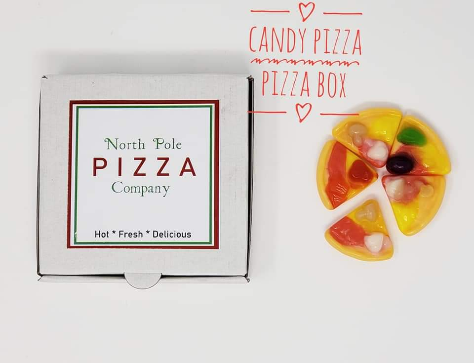 Pizza Box with Candy Pizza - Elf