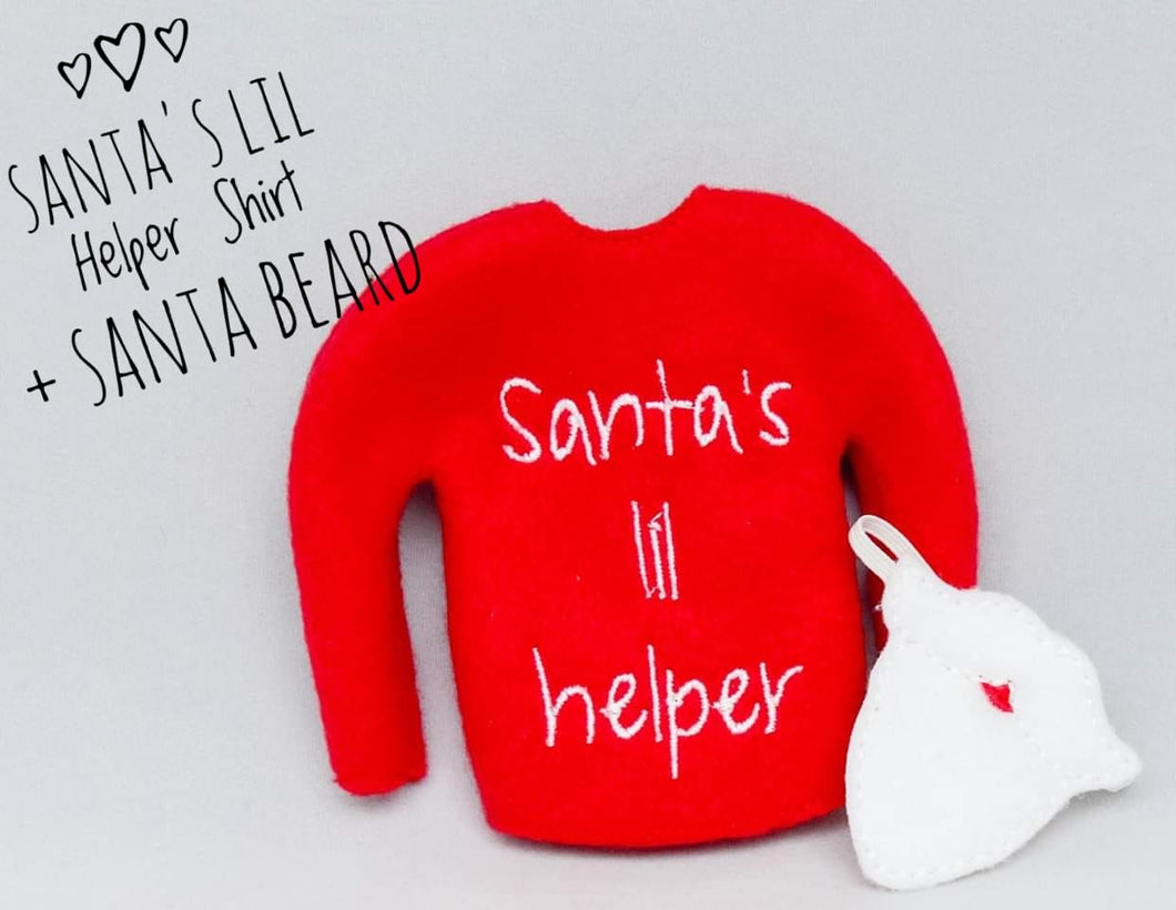 Santa's lil Helper plus Santa Beard - Mask and Sweater for Elf