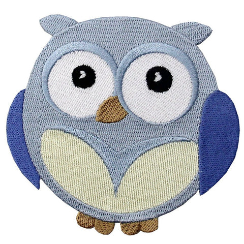 Wide-Eyed Baby Boy Owl Iron On Sew On Patch