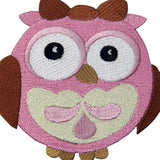 Wide-Eyed Baby Girl Owl Iron On Sew On Patch