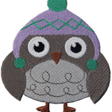 Cozy Winter Wear Owl Embroidered Iron On Sew On Patch
