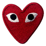 Play Comme Des Garcons Red Heart Eyes Applique Iron On Sew On Patch Embird
