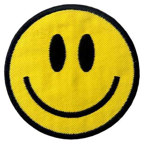 Smile Face Iron On Sew On Patch