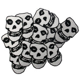 Crimson Ghost Skull Embroidered Iron On Sew On Patch