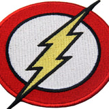 The Flash Lightning Bolt Iron On Sew On Patch