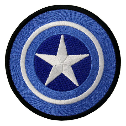 Captain America Shield Embroidered Iron On Sew On Patch
