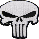 PUNISHER Skull Iron On Sew On Patch