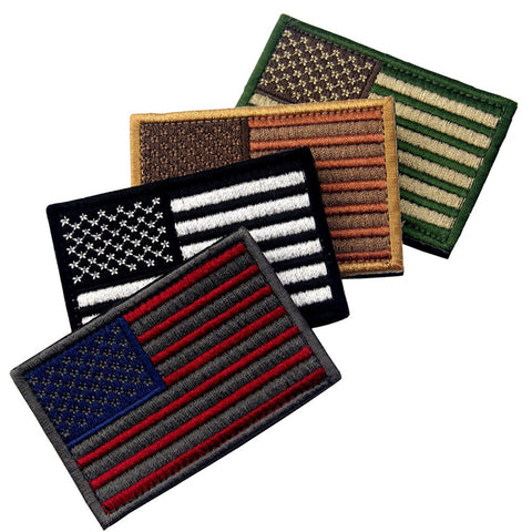 Multi-colored USA Flag Velcro Patches - Bundle 4 pcs