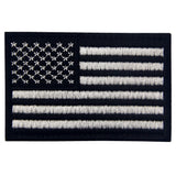 USA Flag Velcro Patch - Black & White
