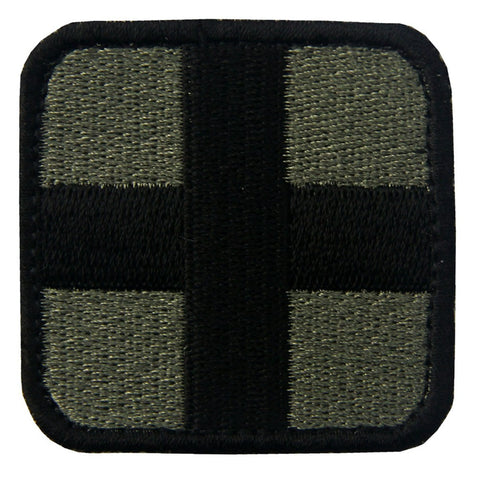Medic Cross Velcro Patch - Olive & Black