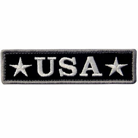 USA Tactical Velcro Patch - Black & White