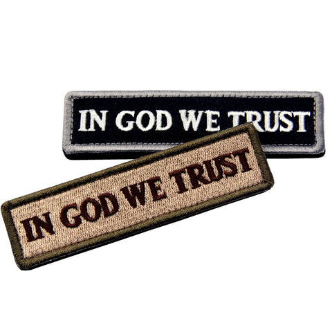 In GOD We Trust Velcro Patch- Bundle 2 pcs