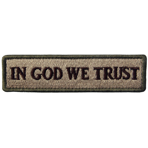In GOD We Trust Velcro Patch - Multitan