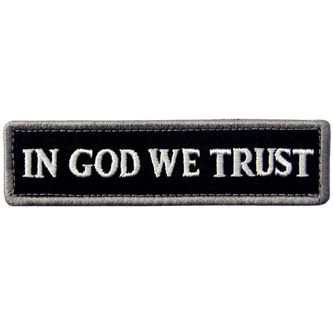In GOD We Trust Velcro Patch - Black & White