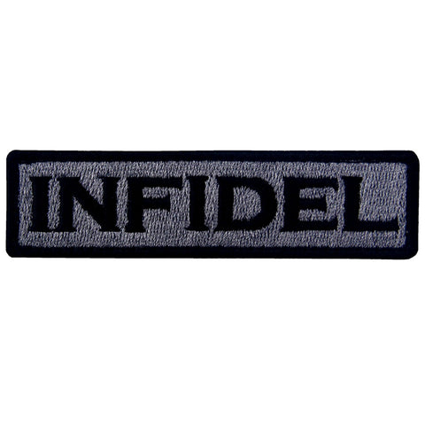 Infidel Velcro Patch - Darkgray & Black