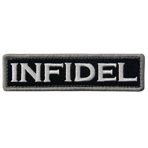 Infidel Velcro Patch - Black & White