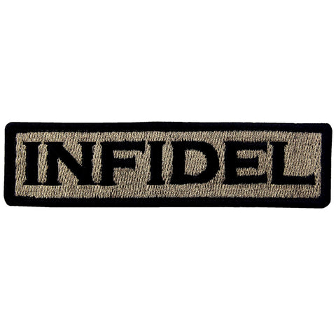 Infidel Velcro Patch - Khaki & Black