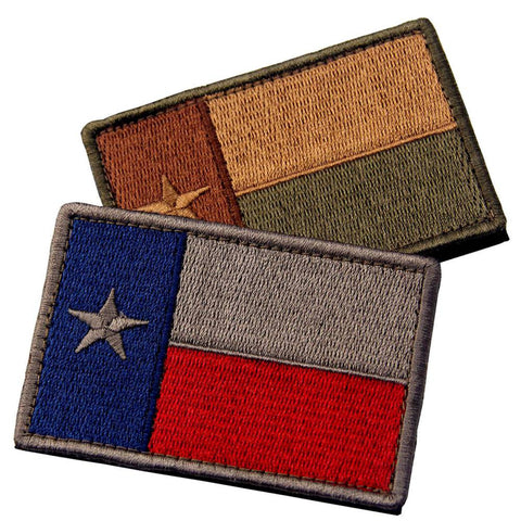 Multi-colored Texas Velcro Patch - Bundle 2 pcs