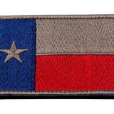 Texas Velcro Patch - Blue & Red