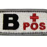 Type B Positive Blood Velcro Patch - Red & Black