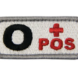 Type O Positive Blood Velcro Patch - Red & Black