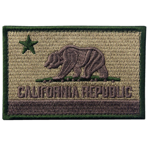 Tactical California Flag Velcro Patch