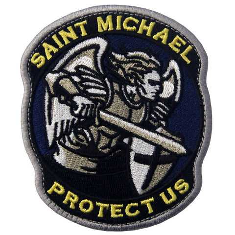 Saint Michael Protect Us Velcro Patch
