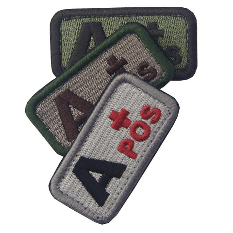 Type A Positive Blood Velcro Patch - 3 Pcs