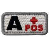 Type A Positive Blood Velcro Patch - Red & Black