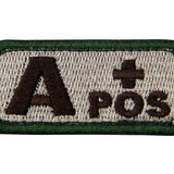 Type A Positive Blood Velcro Patch - Multitan